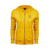 ENZA Ladies Gold Fleece Full Zip Hoodie-NC A&T Aggies