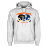 White Fleece Hoodie-Celebration Bowl - VS Design
