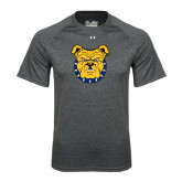 Under Armour Carbon Heather Tech Tee-Bulldog Head