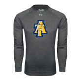 Under Armour Carbon Heather Long Sleeve Tech Tee-AT
