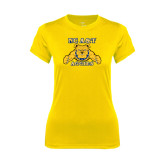 Ladies Syntrel Performance Gold Tee-NC A&T Aggies