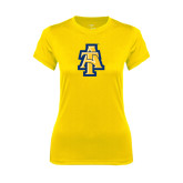 Ladies Syntrel Performance Gold Tee-AT