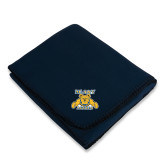 Navy Arctic Fleece Blanket-NC A&T Aggies