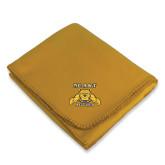 Gold Arctic Fleece Blanket-NC A&T Aggies