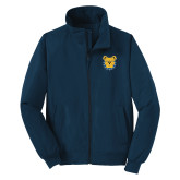 Navy Charger Jacket-Bulldog Head