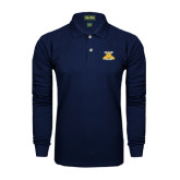Navy Long Sleeve Polo-NC A&T Aggies