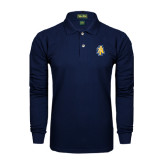 Navy Long Sleeve Polo-AT