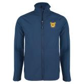 Navy Softshell Jacket-Bulldog Head