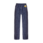 Navy/White Flannel Pajama Pant-NC A&T Aggies