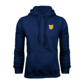 Navy Fleece Hoodie-Bulldog Head