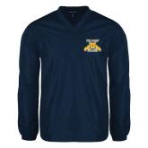 V Neck Navy Raglan Windshirt-NC A&T Aggies
