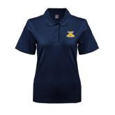 Ladies Easycare Navy Pique Polo-NC A&T Aggies