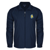 Full Zip Navy Wind Jacket-AT