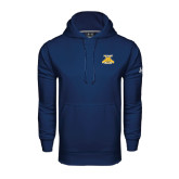 Under Armour Navy Performance Sweats Team Hood-NC A&T Aggies