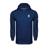 Under Armour Navy Performance Sweats Team Hoodie-AT
