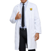 Mens White Lab Coat-Bulldog Head