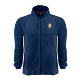 Fleece Full Zip Navy Jacket-AT