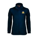 Ladies Fleece Full Zip Navy Jacket-NC A&T Aggies