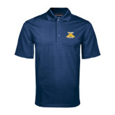 Navy Mini Stripe Polo-NC A&T Aggies