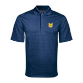 Navy Mini Stripe Polo-Bulldog Head
