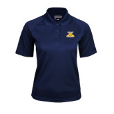Ladies Navy Textured Saddle Shoulder Polo-NC A&T Aggies