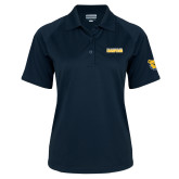 Ladies Navy Textured Saddle Shoulder Polo-2017 Celebration Bowl