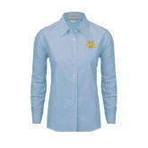 Ladies Light Blue Oxford Shirt-NC A&T Aggies