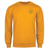 Gold Fleece Crew-Bulldog Head