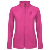 Ladies Fleece Full Zip Raspberry Jacket-AT