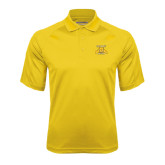 Gold Textured Saddle Shoulder Polo-NC A&T Aggies