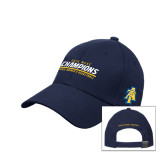 Navy Heavyweight Twill Pro Style Hat-2016 MEAC Champions Aggie Womens Basketball