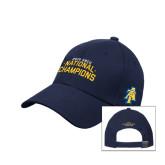 Navy Heavyweight Twill Pro Style Hat-2015 HBCU National Champions