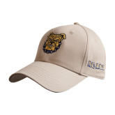 Khaki Heavyweight Twill Pro Style Hat-Bulldog Head
