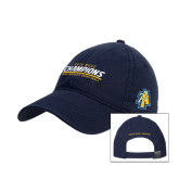 Navy Twill Unstructured Low Profile Hat-2016 MEAC Champions Aggie Womens Basketball