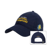 Navy Twill Unstructured Low Profile Hat-2015 HBCU National Champions