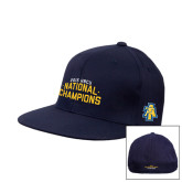 Navy OttoFlex Flat Bill Pro Style Hat-2015 HBCU National Champions