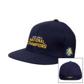 Navy OttoFlex Flat Bill Pro Style Hat-2015 HBCU National Champions