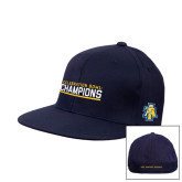Navy OttoFlex Flat Bill Pro Style Hat-Celebration Bowl Champions