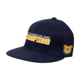 Navy OttoFlex Flat Bill Pro Style Hat-2017 Celebration Bowl