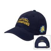 Navy OttoFlex Unstructured Low Profile Hat-2015 HBCU National Champions