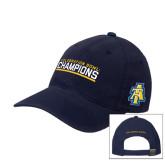 Navy OttoFlex Unstructured Low Profile Hat-Celebration Bowl Champions