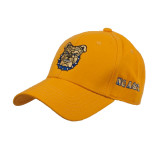 Gold Heavyweight Twill Pro Style Hat-Bulldog Head