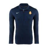 North Carolina A NIKE Navy Dri Fit Training 1/4 Zip Top-