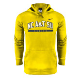 North Carolina NIKE Anthracite Classic Hooded Fleece-