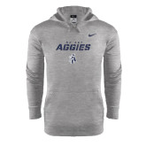 North Carolina A NIKE Heather Therma Fit Pullover Hoody-