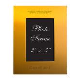 Gold Brushed Aluminum 3 x 5 Photo Frame-North Carolina A&T University Engraved, Personalized