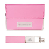 Business Card Case and Key Ring Set Pink-North Carolina A&T University Engraved