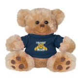 Plush Big Paw 8 1/2 inch Brown Bear w/Navy Shirt-NC A&T Aggies