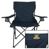 Deluxe Navy Captains Chair-NC A&T Aggies