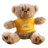 Plush Big Paw 8 1/2 inch Brown Bear w/Gold Shirt-NC A&T Aggies